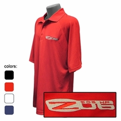 Corvette C6 Z06 Emblem - Men's Performance Polo Shirts : C6 Z06