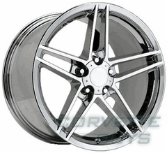 Corvette C6 Z06 Style Wheel - Chrome (18x9.5)