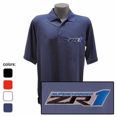 Corvette C6 ZR1 Emblem - Men's Performance Polo Shirts : C6 ZR1
