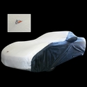 Corvette Car Cover - Two Tone with C5 Emblem Black/Silver  (97-04 C5)