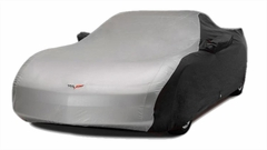 Corvette Car Cover - Two Tone with C6 Embroidered Logo (05-13 C6) - Black/Silver