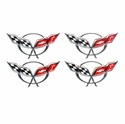 Corvette Center Cap Emblems-2 3/8 In.- Chrome  (97-04 C5/C5 Z06)