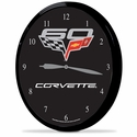 "Corvette Clock - 14"" AA Wall Clock w/ 60th Anniversary Emblem"