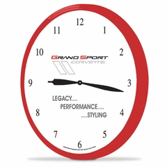"Corvette Clock - 14"" AA Wall Clock with Grand Sport Emblem"