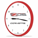 "Corvette Clock - 14"" AA Wall Clock with Z06 Emblem"