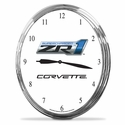 "Corvette Clock - 14"" AA Wall Clock with ZR1 Emblem"