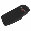 Corvette Console Lid Cover - Ebony with C6 Emblem (05-13 C6/Z06/ZR1/Grand Sport)