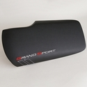 Corvette Console Lid Cover : GM Embroidered C6 Grand Sport Logo : 2010-2013