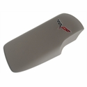Corvette Console Lid Cover - Titanium with C6 Emblem (05-13 C6/Z06/ZR1/Grand Sport)