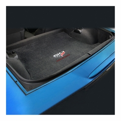 Corvette Coupe Cargo Mat - 60th Anniversary Above Flags w/Red Corvette Script : C6, Z06, Grand Sport & ZR1- Ebony