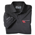 Corvette Cutter & Buck Polo - Black - Embroidered : 2010-2013 C6 Grand Sport
