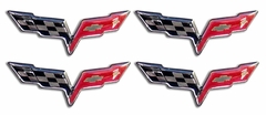 "Corvette Decal - C6 Logo Set of 4 - 2"" (05-12 C6)"