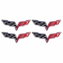"Corvette Decal - C6 Logo Set of 4 - 2 3/8"" (05-13 C6)"