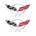 "Corvette Domed Decal 1.75"" x .85� : 1997-2004 C5 Logo"