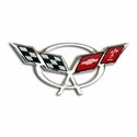 "Corvette Domed Decal 3.25"" x 1.58� : 1997-2004 C5 Logo"