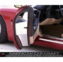 Corvette Door Jam Covers - Polished Stainless Steel : 1997-2004 C5 & Z06