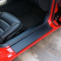 Corvette - Door Sill Ease/Protector - Inner Door Sill Guards Black : 2005-2013 C6, Z06, Grand Sport & ZR1 - Don's Specialties 2510pb