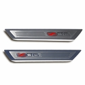 Corvette Door Sill Plates - Executive Series with Z06 505HP Logo Inlay : 2006-2013 C6 Z06