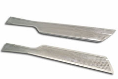 Corvette Door Sill Plates - Full Length Perforated : 2006-2013 C6
