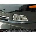 Corvette Driving Light Grille 2 Pc. (Set) - Laser Mesh Stainless Steel : 2005-2013 C6