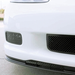 Corvette Driving Light Grille 2 Pc. (Set) - Laser Mesh Stainless Steel Black Stealth : 2006-2013 Z06,ZR1,Grand Sport
