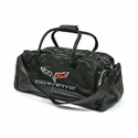 Corvette Duffel Bag Leather with C6 Logo - Black (05-12 C6) -  6506022