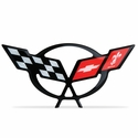 "Corvette Engine Air Bridge - Domed Decal 4.5"" x 2.19� : 1997-2004 C5 Logo"