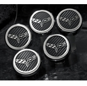 Corvette Engine Cap Cover Set - C6 GM Licensed Series Chrome/Brushed/Carbon Fiber : 2005-2013 C6