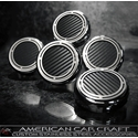 Corvette Engine Cap Set 5 or 6 Pc. - Stainless Steel w/ Carbon Fiber : 1997-2013 Automatic & Manual C5 & C6