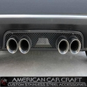 Corvette Exhaust Port Filler Panel - Laser Mesh Black Stealth Stainless Steel for Standard Exhaust only : 2005-2013 C6