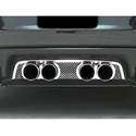 "Corvette Exhaust Port Filler Panel - Laser Mesh Stainless Steel for Corsa 4.0"" Dual Exhaust : 2005-2013 C6"