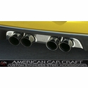 "Corvette Exhaust Port Filler Panel - Perforated Stainless Steel for Corsa 3.5"" Quad Exhaust : 2005-2013 C6"