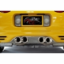Corvette Exhaust Port Filler Panel - Polished Stainless Steel for Corsa Pro Series Quad Tips : 1997-2004 C5 & Z06