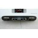 Corvette Exhaust Port Filler Panel - Solid Black Stealth Stainless Steel for NPP Exhaust only : 2008-2013 C6