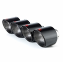 "Corvette Exhaust System - Akrapovic Tail Pipe Tips 4.5"" - Carbon Fiber : 2006-2013 Z06 & ZR1"