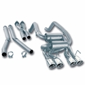 "Corvette Exhaust System - Borla Cat-Back Sys w/ X-Pipe S-Type/4 Rd 4""RL, AC Tips : 2009-2011 C6"