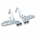"Corvette Exhaust System - Borla Catback S Type/4 Tips 4"" Rolled/Angle Cut : 1997-2004 C5 & Z06"