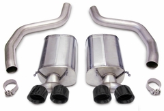 "Corvette Exhaust System - Corsa Sport - Quad Pro-Series 4.0"" Diamond Black Tips : 2006-2013 Z06, ZR1"