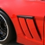 Corvette Fender Emblem Black : 2010-2013 C6 Grand Sport