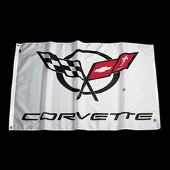 Corvette Flag White 5'x3' with C5 Logo