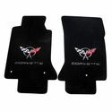 Corvette Floor Mats - Embroidered Double Logo : 1997-2004 C5