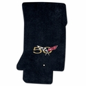 Corvette Floor Mats : Velourtex Embroidered 50th Anniversary Logo : 1997-2004 C5