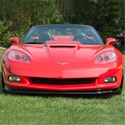 Corvette Front Chin Spoiler with Dual Screens : 2005-2013 C6