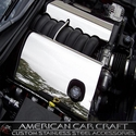 Corvette Fuel Rail Covers - Polished Stainless Steel : 2008-2013 C6 LS3
