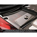 Corvette Fuse Box Cover - Perforated Stainless Steel : 1997-2004 C5 & Z06