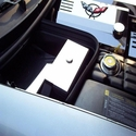 Corvette Fuse Box Cover - Polished Stainless Steel : 1997-2004 C5 & Z06