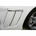 Corvette Grand Sport Front Fender - Laser Mesh Stainless Steel Black Stealth : 2010-2013 Grand Sport