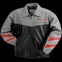 Corvette Grand Sport Leather Jacket Two Tone - Grey/Black 2010-2013
