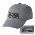 Corvette Hat - Frayed Patch Cap with C6 Corvette Logo & Script