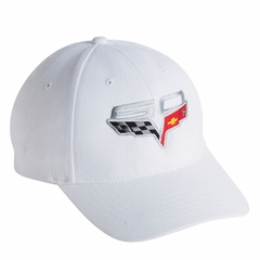 Corvette Hat White with 60th Annivarsary Logo